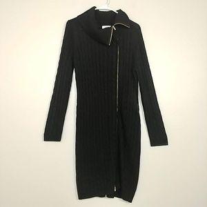 Calvin Klein Asymmetrical Zip Sweater Dress #3252